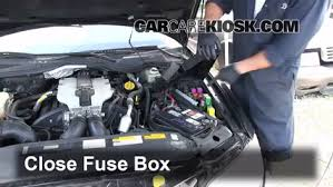 blown fuse check 1997 2001 cadillac catera 1999 cadillac catera 6 replace cover secure the cover and test component