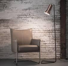 Industrieel Vloerlamp Triangle Koperen Lampenkap