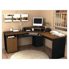 furniture for computers at home. corner computer desks for your home office furniture amazing lshaped brown top black computers at n