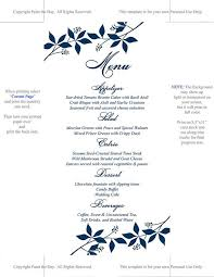Downloadable Menu Templates Instantly Download And Print Your Own Wedding Menu Cards With This