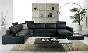 Leather Couch Living Room Appealing Black Leather Sofa Photo Lollagram