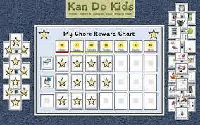 Chore Reward Chart Weekly Autism Special Needs