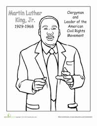 Small Picture Color Dr Martin Luther King Jr Worksheet Educationcom
