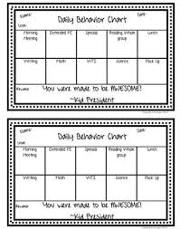 Editable Daily Behavior Chart Worksheets Teaching