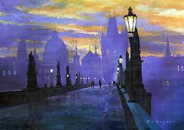 oil paintings of prague by yuriy shevchuk tres