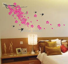 Small Picture Wholesale Removable Swallow And Flowers Wall Stickers Living Room