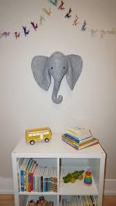 large faux taxidermy elephant head