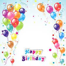 Happy Birthday Background Images Balloon Ribbon Happy Birthday Background Material 01 Free Download