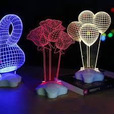 led acrylic night light table desk lamp home decorative