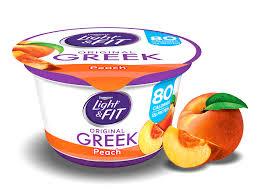 peach greek yogurt