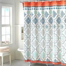 Marvelous Grey And Orange Shower Curtain Ideas Best Inspiration