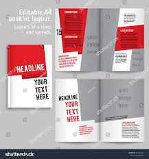 Design Spreads A4 Book Layout Design Template Cover Stock Image Download Now