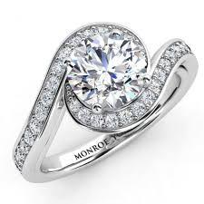 halo wedding ring. clarcia - embrace halo diamond ring wedding