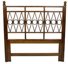 david francis furniture drake king headboard  chairish