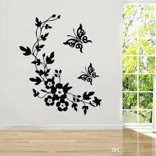 wall vinyl decals newest classic erfly flower home wedding decoration wall stickers for living room decor