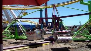 santa monica pier the scrambler youtube