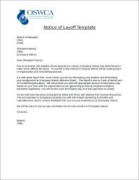 Sample Layoff Letter Sample Lay Off Letter Template