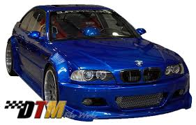 bmw m3 e46 wide body kit. Beautiful E46 DTM Fiber Werkz BMW E46 GTR Race Style Widebody Kit FRP On Bmw M3 Wide Body A