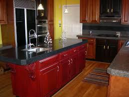 Black And Red Kitchen Kitchen Red Kitchen Island And Black Marble Also Kitchen Sink