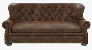 Leather Couch Restoration Restoration Hardware Churchill Leather Sofa With Nailheads 3d