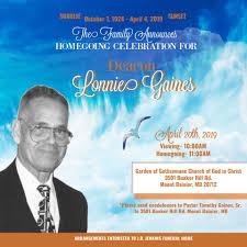 Deacon Lonnie Gaines has been called... - Garden of Gethsemane ...