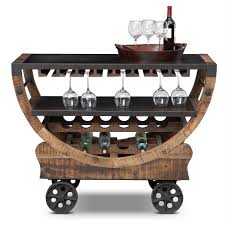 Wine Carts Cabinets Harper Blvd Tuscany Espresso Black Wine Bar Cart Serving Table By