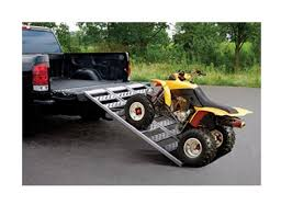 ATV RAMPS PICKUP Truck Loading Motorcycle Lawn Mower Aluminum ...