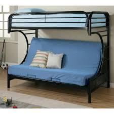 Coaster C Style Twin Over Full Futon Metal Bunk Bed, Black ...