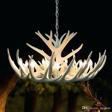 modern white antler chandelier novelty re for dining room resin chandeliers lighting living kitchen pendant light faux white antler chandelier
