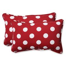 Red And White Decorative Pillows