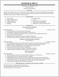 Resume Examples For Nanny Position Free Download