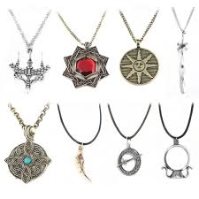 whole rj dark souls 3 necklaces pendants necklaces sun knight campfire fire spiral sword choker men keyring jewelry gift pearl necklace necklace from