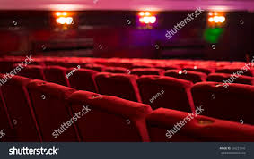 red theater chairs. Empty Red Theater Chairs V