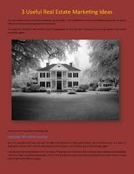 One Light Real Estate Photography 3 Useful Real Estate Marketing Ideas By Sakshi Gupta Issuu