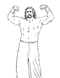 Small Picture Free Printable WWE Coloring Pages For Kids