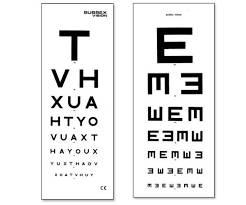 Double Vision Test Chart Eye Vision Test Card Chart Double Sided
