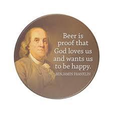 Ben Franklin Beer Quote Delectable Amazon Zazzle Ben Franklin Beer Quote Sandstone Coaster Coasters