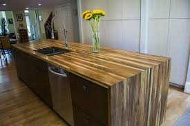 english walnut waterfall island