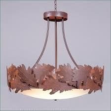 crestline chandelier large bowl bottom oak leaf