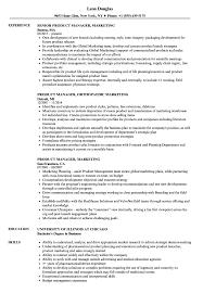 Product Manager Marketing Resume Samples Velvet Jobs