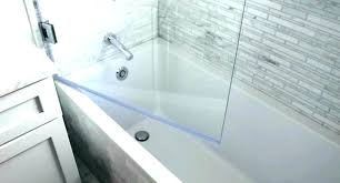 shower splash guard bathtub tub glass almond clear
