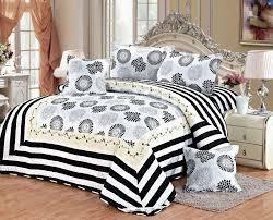 double full size cotton damask pattern white bedding sets