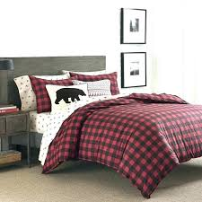buffalo check bedding medium size of duvet cover plaid sheets red clearance twin comforter and black
