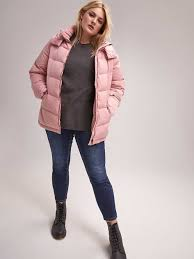 short down puffer jacket with hood livik