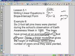 slope intercept word problems