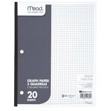 Mead Graph Paper Quad Ruled 20 Sheets Walmart Com