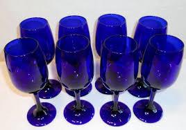 libbey cobalt blue wine glasses libbey cobalt collection on