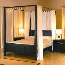 Wood Canopy Bed King Bedroom Amazon King Size Canopy Bed Silver King ...