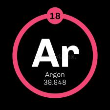 Argon chemical element stock vector. Illustration of molecule ...