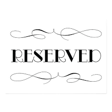 Reserved Signs Templates Reserved Seating Signs Template Templates Data
